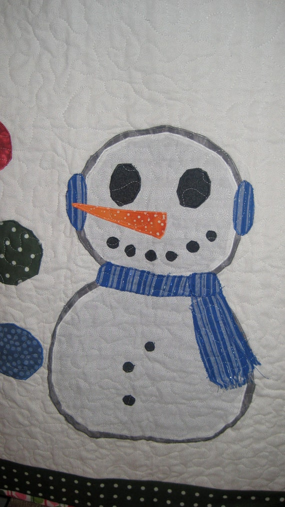 Snowman Christmas Wallhanging or Childs Christmas Quilt