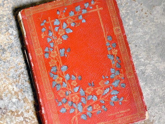 Vintage Wedding Guest Book Large Size French Book Personalized Made To Order
