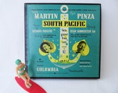 Vintage South Pacific 45s Box Set of 6 Records - Mary Martin - Sing Along and Have Some Fun