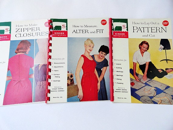 How to Make Zipper Closures, Alter and Fit, Lay Out a Pattern Singer Sewing Library 1960
