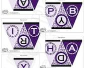 Purple Leopard Banner - Instant Download