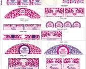 Pink & Purple Leopard Party Package - Digital File