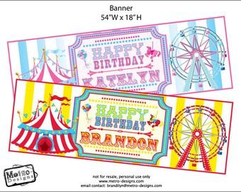 Carnival/Circus - Printed Banner