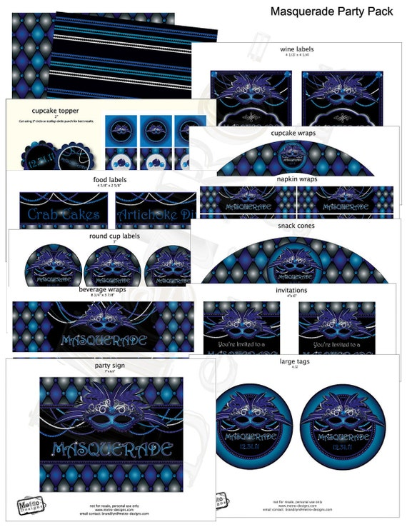 Masquerade Party Decorations, Party Decorations, Sweet 16 Party Decorations, Masquerade Decor