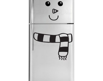 Snowman Fridge Decal