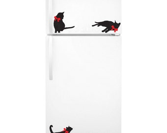 Fancy Kitties Fridge Decal