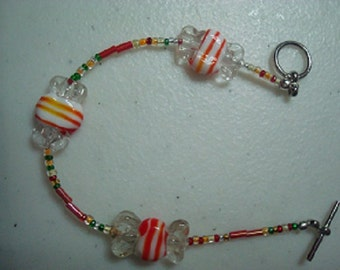 Bracelet- Peppermint Candies--Free Shipping in US