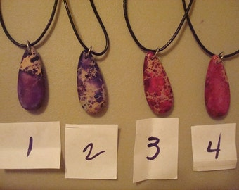 2 Purple and 2 Fushia Pendants--Sold Separately--Same Size and Shapes