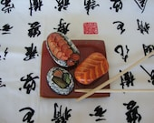 Sushi Hand Painted Rock Art
