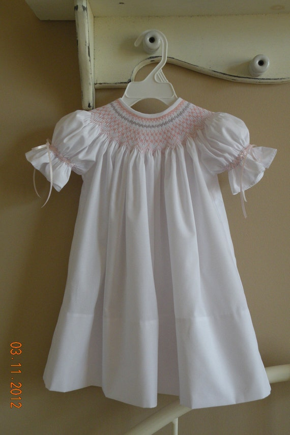 Hand Smocked Dress                                                             Size 3-24 months