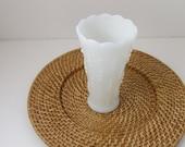 Milk Glass Vase - Tear Drop Design