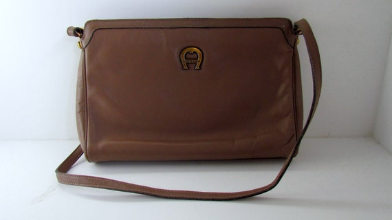 Vintage Etienne Aigner Shoulder Bag - Vintage 1980s - Taupe