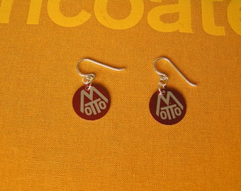 Motto (Red) Earrings