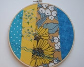 Vintage Flowers Embroidery Wall Art