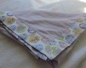 Lavender Flannel Receiving Blanket