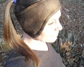 New Year SALE - Snuggly Fleece Ear Warmers - Chocolate