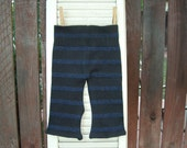 RESERVED FOR MAREN - loungers - cotton pants - black with blue stripes