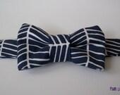 Navy Herringbone Baby Bowtie -  Toddler Bowtie   Baby Bow tie  Toddler Bow tie