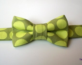 Olive and Lime Green Baby Bowtie  Toddler Bowtie  Baby Bow tie  Toddler Bow tie