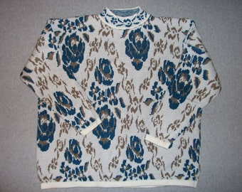 Gold Antique Flowers Sweater Hipster Tacky Gaudy Ugly Christmas X-Mas Holiday Party Mens Womens 2X Extra Large