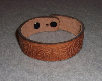 Vintage Cool Funky Crazy 1970s/1980s Leather Bracelet Arm/Wristband Bangle Hipster