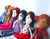 "Custom Handmade Cloth Doll Heirloom ""Gigi Like Me"" Doll"