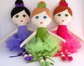 Custom Ballerina Doll Handmade with Tutu -  My Gigi Doll