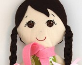 Handmade Doll Brown Eyes and Brown Hair My Gigi Doll - Bella