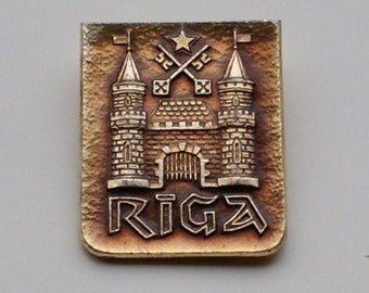 Coat of Arms - Riga - Livonian City - Baltic State Pin - 1980's
