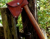 Custom Handcrafted Leather Hatchet or Axe Scabbard