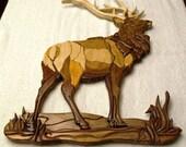 Majestic Elk Intarsia