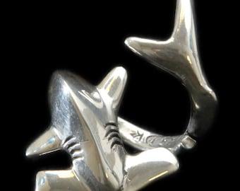 Sterling Silver Hammerhead Shark Ring