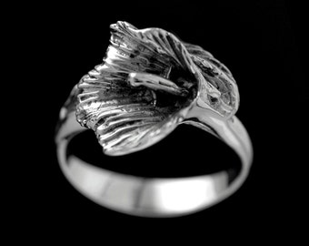 CALLA LILY RING from my silver flower collection