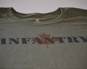 Canadian Infantry Military t shirt size large, or choice of S,M,L,XL,2XL,3XL