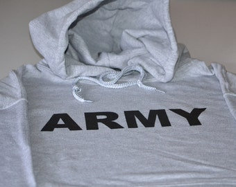 ARMY PT physical training military hoodie screenprint fleece sweater great gift for men husband father wife son