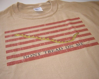 Gadsden Flag Dont tread on me American military t shirt size large, or choice of S,M,L,XL,2XL,3XL