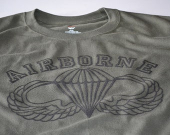 Parachute Army Tshirt Airborne army ranger T shirt parachute skydiving t-shirt for men women teens army gift for boyfriend husband father