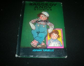 1948 Raggedy Andy Stories by Johnny Gruelle hardcover vintage childrens book