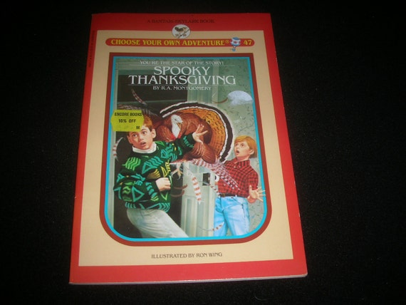 1988 Spooky Thanksgiving Choose Your Own Adventure book