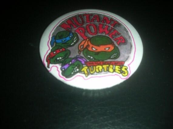 1980's Teenage Mutant Ninja Turtles collectible pin / button
