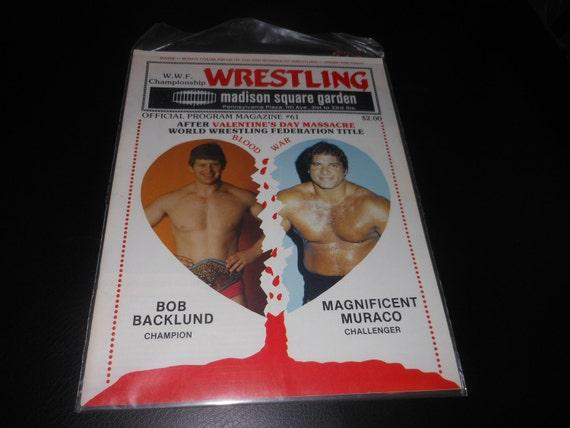 1983 Wwf Wrestling Event Program Magazine Madison Square