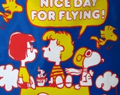 RARE and Hard to Find Snoopy The Red Baron from Peanuts Travel Flight Bag