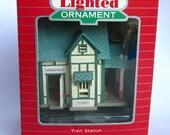 Vintage Hallmark Keepsake Magic Lighted Merriville Train Station from 1987