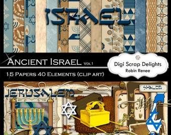 Bible Scrapbook Kit Vol 1 Israel Clip Art