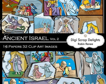 Bible Clip Art  Scrapbook Kit Vol 2 Bible Story Clip Art, Instant Download
