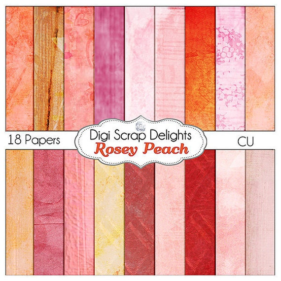 Digital Bible Journaling Papers - Shabby Chic Rosey Peach for Art Journaling, Scrapbooking, Crafts, Digital Scrapbooking, Instant Download