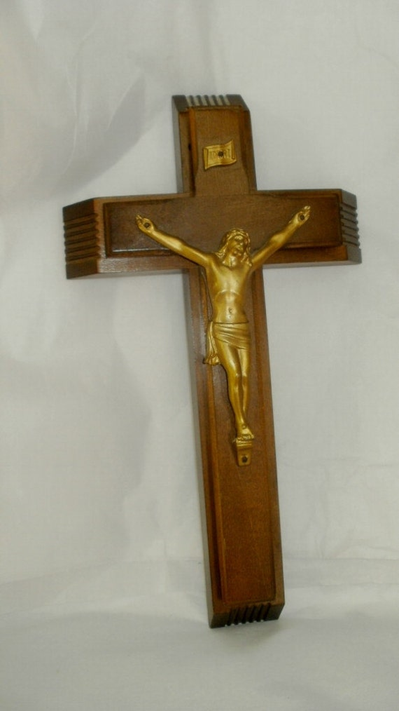 Vintage Sick Call Crucifix Kit Cross Last Rights Religious