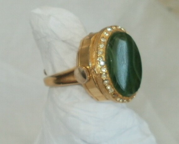 Vintage Watch Ring Wind up Mechanical Sheffield Swiss Made Adjustable Band