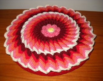 Vintage Crocheted Pillow Sham