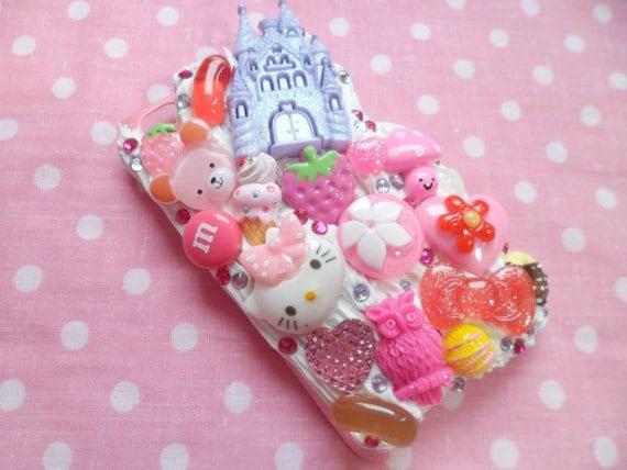 Kawaii Princess Hello Kitty Candy Bear Whipped Cream iPod Touch 4th Gen Case